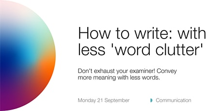 ANUHDR: how to write with less 'word clutter' tickets