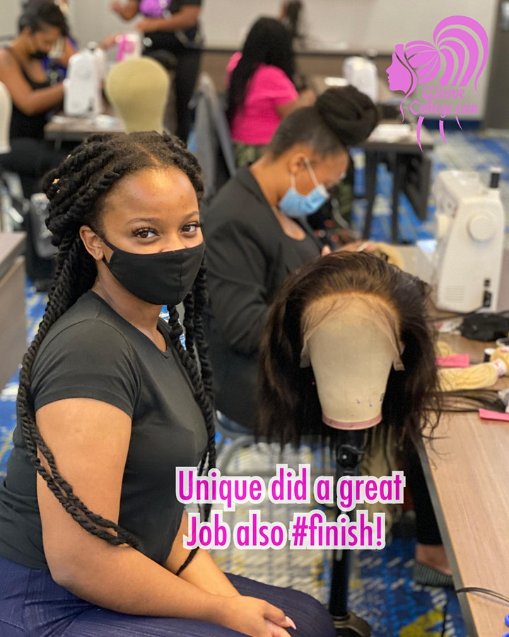 Atlanta, GA | Lace Front Wig Making Class with Sewing Machine image