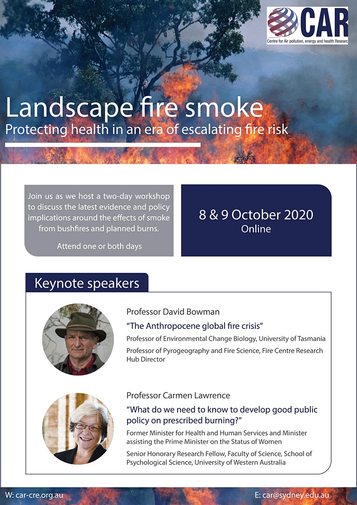 Landscape fire smoke: Protecting health in an era of escalating fire risk image