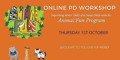 ANIMAL FUN PD WORKSHOP WEBINAR OCTOBER 2020 tickets