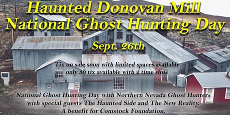 Haunted Donovan Mill National Ghost Hunting Day tickets
