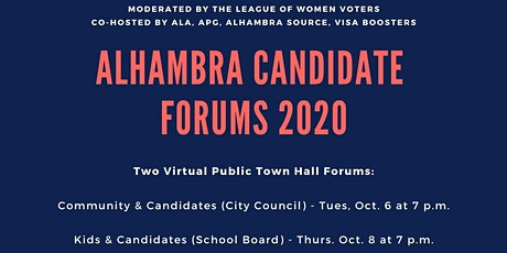 Community and Candidates Forum - Alhambra City Council tickets
