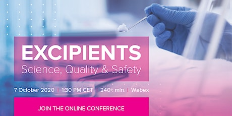 Excipients: science, quality & safety tickets