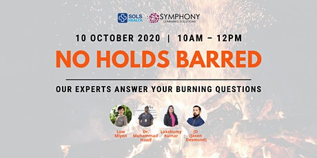 [FREE] No Holds Barred: Our Experts Answer your Burning Questions - FB LIVE tickets
