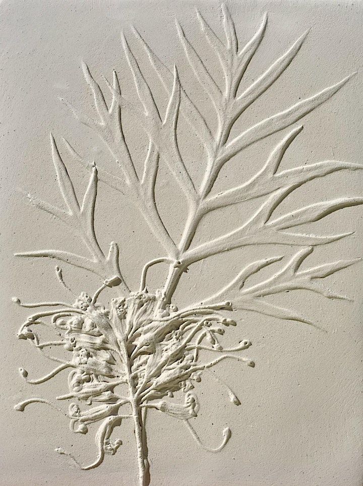 Pressed Plants Plaster Tile, Create and Sip Class image