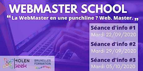 """WEBMASTER SCHOOL [Séance d'info] """"Mon E-COMMERCE en seulement 3 mois!"""" billets"""