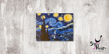 Sip & Paint MY @ Ampang :  Starry Night by Van Gogh tickets
