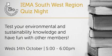 SW141020 IEMA South West Region Quiz Night tickets