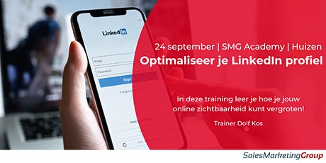 SMG Academy | Optimaliseer je LinkedIn profiel | 24 sept 2020 tickets