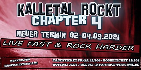 Kalletal Rockt Chapter 4 - Festival 2021 Tickets