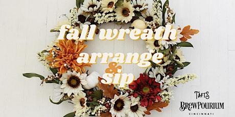 Fall Wreath Arrange & Sip tickets