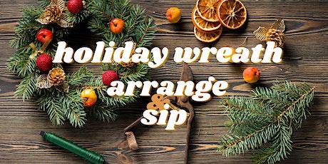 Holiday Wreath Arrange & Sip tickets