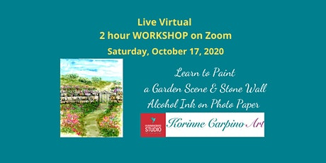 Paint a Garden with Stonewall in Alcohol Inks tickets