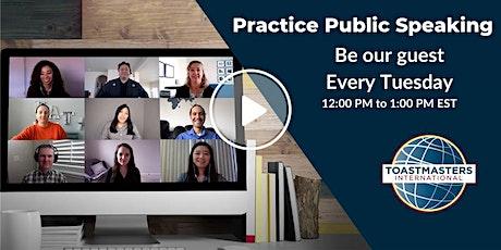 Practice Public Speaking entradas