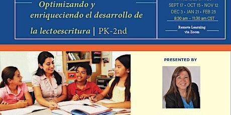 Optimizando y enriqueciendo el desarrollo de la lectoescritura – PK-2 entradas