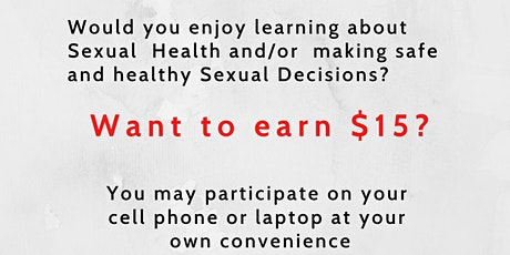 Get PAID To Participate!!!!   Female Sexual Reproductive Health  Education tickets