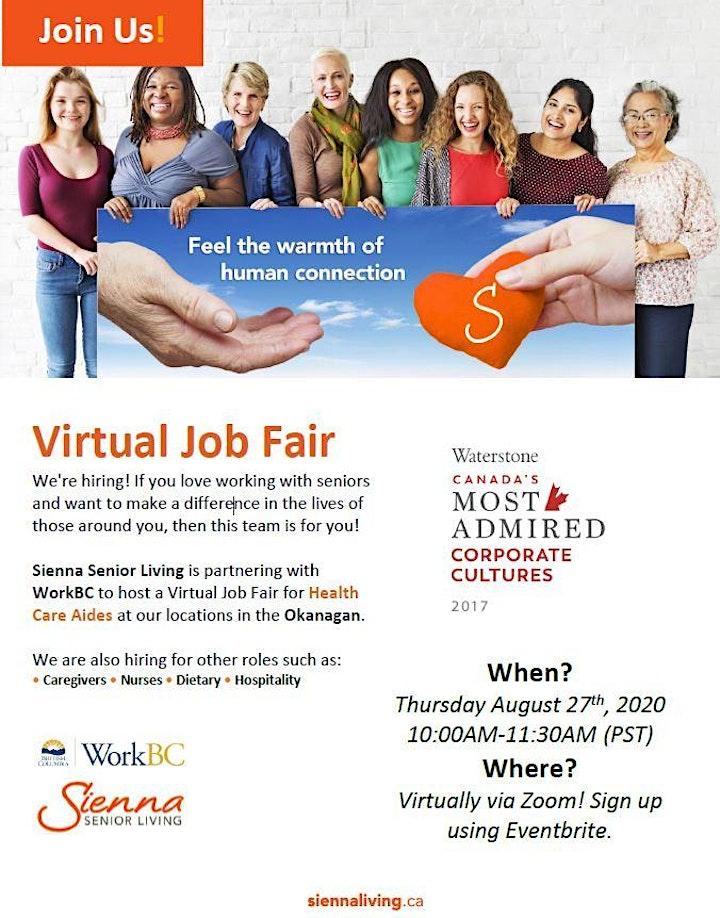 Sienna Senior Living Virtual Job Fair image