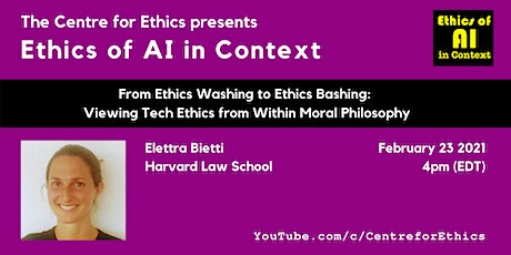 Elettra Bietti, Viewing Tech Ethics from Within Moral Philosophy tickets