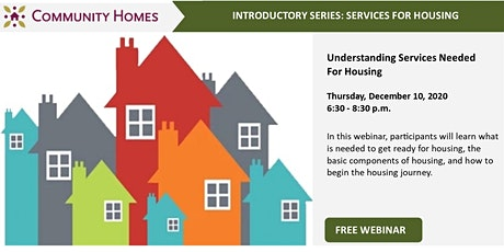 Understanding Services Needed For Housing 12/10/20 tickets
