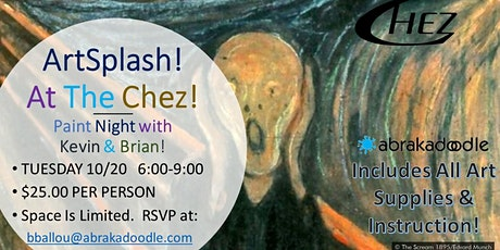Paint Night at The Chez with Kevin & Brian - The Scream! tickets