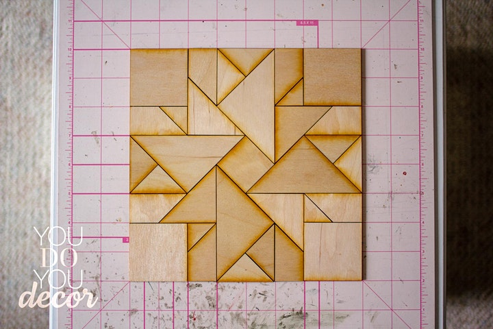 Sip and Assemble: Wood Barn Quilt image