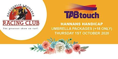 Hannans Handicap Umbrella Package tickets