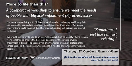 More To Life Than This? People With a Physical Impairment Across Essex tickets