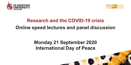 Research and the COVID-19 crisis -  International Day of Peace tickets
