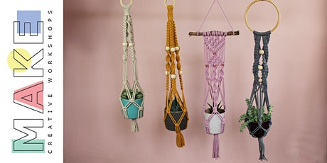 Macramé Plant Hanger workshop or  Macramé Hanging Hoop tickets