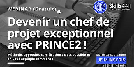 [WEBINAR] DEVENIR CHEF DE PROJET EXCEPTIONNEL AVEC PRINCE2 ! billets