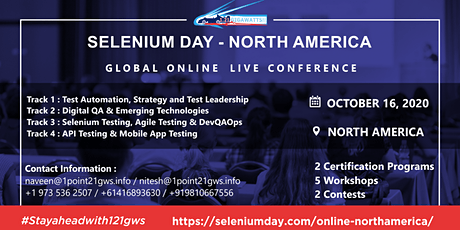 Selenium Day - North America - 16 October 2020 tickets