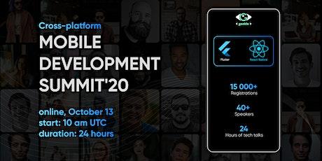 Cross-Platform Mobile Development Summit'20 bilhetes