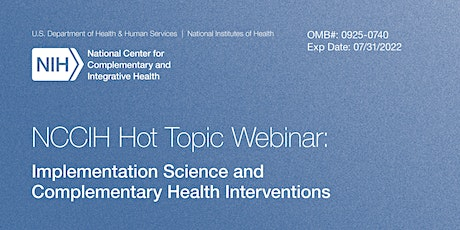 Implementation Science and Complementary Health Interventions tickets