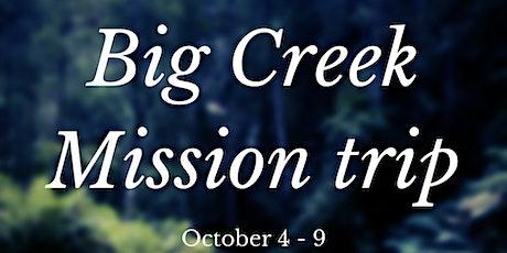 Big Creek Mission Trip tickets
