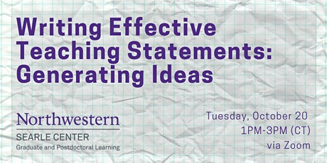 Writing Effective Teaching Statements: Generating Ideas tickets