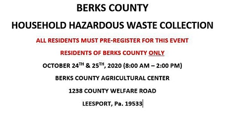 BERKS COUNTY HOUSEHOLD HAZARDOUS WASTE COLLECTION - SATURDAY tickets