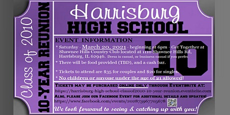 10-Year Reunion for the Harrisburg High School Class of 2010 tickets