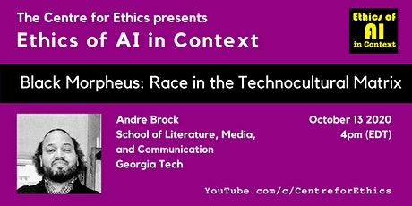 Andre Brock, Black Morpheus: Race in the Technocultural Matrix tickets