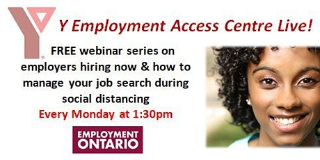 YMCA-YEAC Live! - Balancing a Virtual Job Interview at Home tickets
