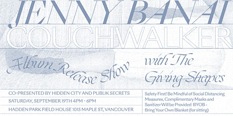 JENNY BANAI - Album Release Concert w/ THE GIVING SHAPES tickets