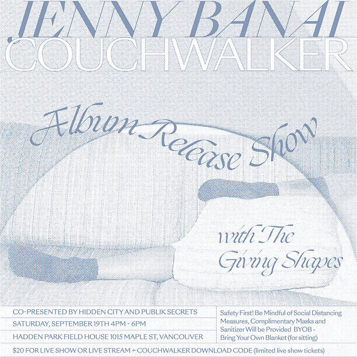 JENNY BANAI - Album Release Concert w/ THE GIVING SHAPES image