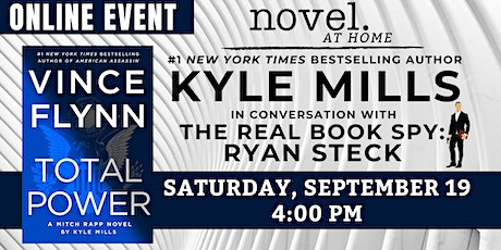 NOVEL AT HOME: KYLE MILLS IN CONVERSATION WITH THE REAL BOOK SPY tickets