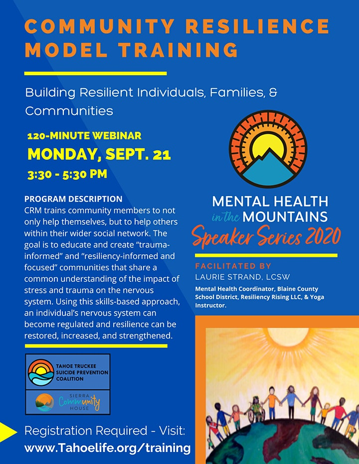 Mental Health in the Mountains - Speaker Series image