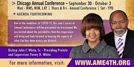 Chicago Annual Conference of the 4th Episcopal District of the AME Church tickets