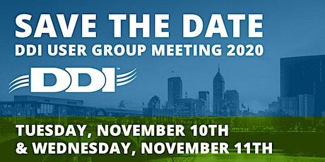2020 DDI Virtual User Group Meeting tickets
