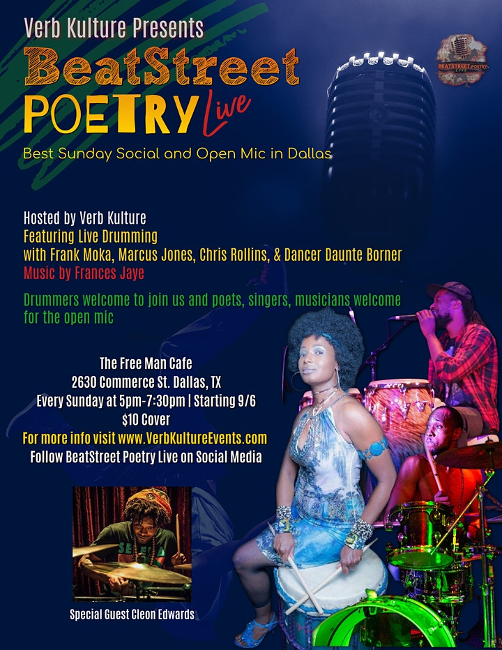 BeatStreet Poetry Live  (Best Sunday Social and Open Mic in Dallas) image