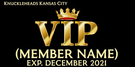 Knuckleheads VIP Membership Card tickets
