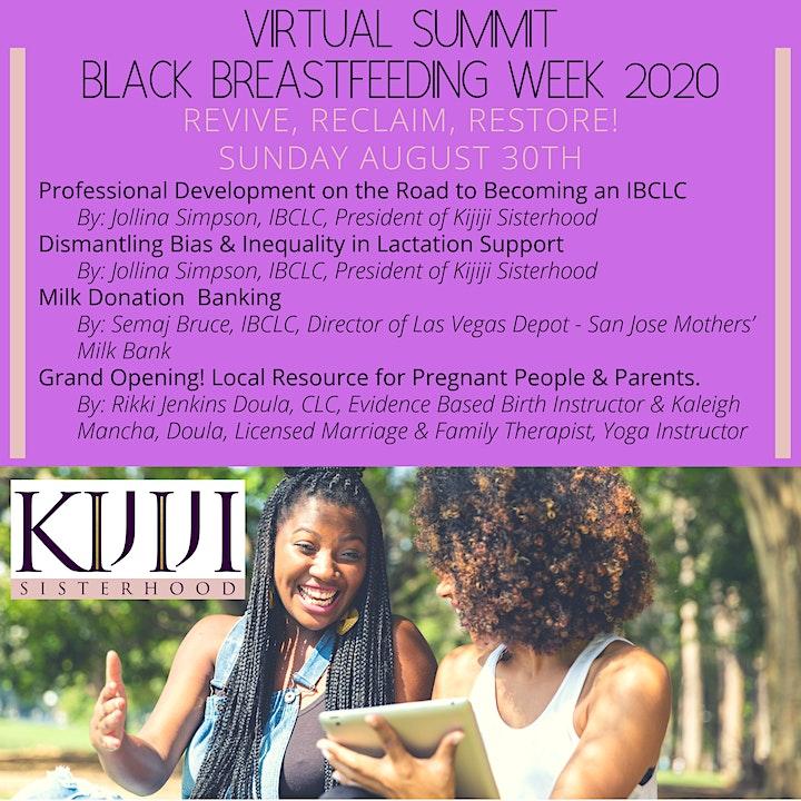 Black Breastfeeding Week 2020 Virtual Summit image