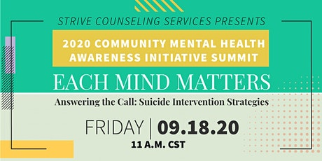"""""""Answering the Call: Suicide Intervention Strategies tickets"""