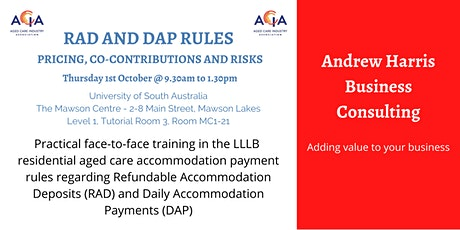 RAD and DAP Rules - Pricing, Co-Contributions and Risks tickets